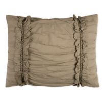 Rizzy Home Clementine King Pillow Sham in Khaki