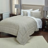 Rizzy Home Pierce Queen Quilt Set in Natural