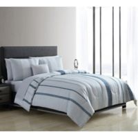 VCNY Home Merrit Twin Comforter Set in Blue/White