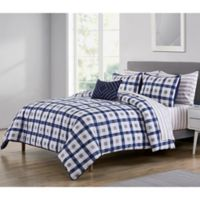 VCNY Home Belmar Queen Comforter Set in Navy/White