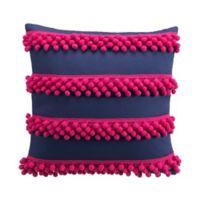 Tracy Porter® Josie Pom Pom Throw Pillow in Blue