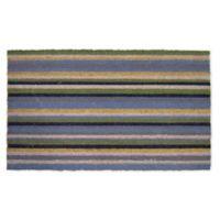 """Nature Mats by Geo 18"""" x 30"""" Multicolor Striped Outdoor Coir Door Mat"""