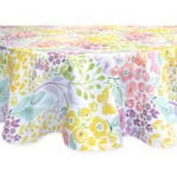 Colordrift Morning Spring 70-Inch Round Indoor/Outdoor Tablecloth