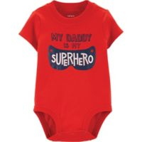 carter's® Size 3M Superhero Dad Bodysuit in Red