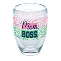 "Tervis® 9 oz. ""Mom Boss"" 9 oz. Stemless Wine Glass"