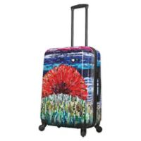 Mia Toro ITALY Sunrise 24-Inch Hardside Spinner Checked Luggage