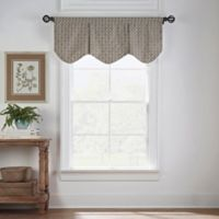 Boratta Geo Window Valance in Mocha