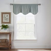 Boratta Geo Window Valance in Silver Blue