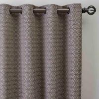 Boratta Geo 95-Inch Grommet Window Curtain Panel in Mocha