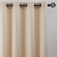 Boratta Geo 63-Inch Grommet Window Curtain Panel in Ivory