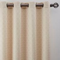 Boratta Geo 108-Inch Grommet Window Curtain Panel in Ivory