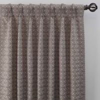 Boratta Geo 63-Inch Pinch Pleat Window Curtain Panel in Mocha