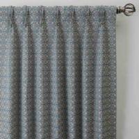 Boratta Geo 108-Inch Pinch Pleat Window Curtain Panel in Silver Blue