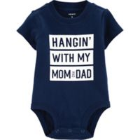 carter's® Size 9M Hanging With Mom & Dad Bodysuit in Navy