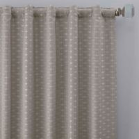 Cascade 63-Inch Rod Pocket/Back Tab Window Curtain Panel in Silver