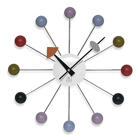 Cupecoy Design Colorful Wooden Ball Clock Bed Bath Amp Beyond