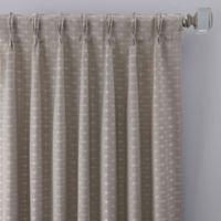 Cascade 63-Inch Pinch Pleat Window Curtain Panel in Silver