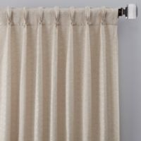 Cascade 84-Inch Pinch Pleat Window Curtain Panel in Linen