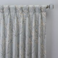 Catkin 108-Inch Pinch Pleat Window Curtain Panel in Spa