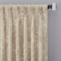 Catkin 63-Inch Pinch Pleat Window Curtain Panel in Natural