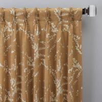 Catkin 108-Inch Pinch Pleat Window Curtain Panel in Gold