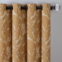Catkin 84-Inch Grommet Window Curtain Panel in Gold