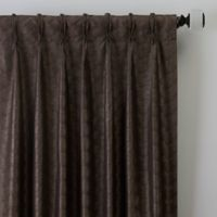 Dimensions 63-Inch Pinch Pleat Window Curtain Panel in Bronze
