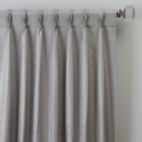 Dimensions 63-Inch Pinch Pleat Window Curtain Panel in Platinum