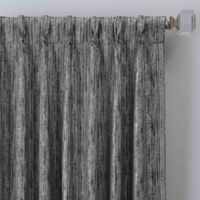 Drift 95-Inch Pinch Pleat Window Curtain Panel in Pewter