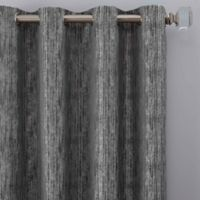 Drift 95-Inch Grommet Window Curtain Panel in Pewter
