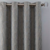 Drift 63-Inch Grommet Window Curtain Panel in Misty Blue