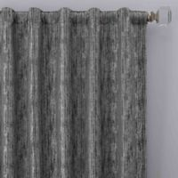 Drift 95-Inch Rod Pocket/Back Tab Window Curtain Panel in Pewter