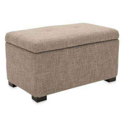 Safavieh Small Maiden Storage Bench In Stone/Grey