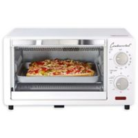 Continental Electrics 4-Slice Toaster Oven in White
