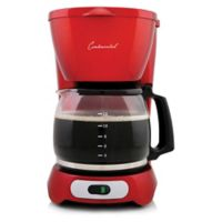 Continental Electric 12-Cup Digital Coffee Maker in Red