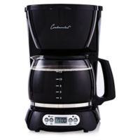 Continental Electric 12-Cup Digital Coffee Maker in Black