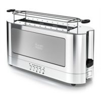 Russell Hobbs 2-Slice Glass Accent Long Toaster in Stainless Steel