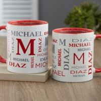 Notable Name Personalized 11 oz. Coffee Mug in Red