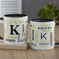 Notable Name Personalized 11 oz. Coffee Mug in Black