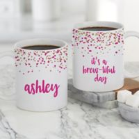 Sparkling Name Personalized 11 oz. Coffee Mug in White