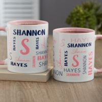 Notable Name Personalized 11 oz. Coffee Mug in Pink