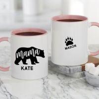 Mama Bear Personalized 11 oz. Coffee Mug in Pink