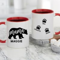 Mama Bear Personalized 11 oz. Coffee Mug in Red