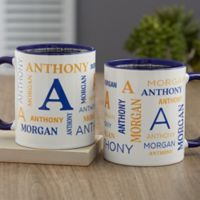 Notable Name Personalized 11 oz. Coffee Mug in Blue