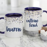 Sparkling Name Personalized 11 oz. Coffee Mug in Blue
