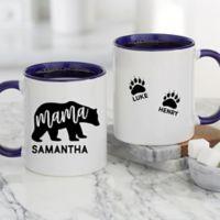 Mama Bear Personalized 11 oz. Coffee Mug in Blue