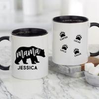 Mama Bear Personalized 11 oz. Coffee Mug in Black