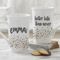 Sparkling Name Personalized 16 oz. Coffee Mug in White