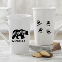 Mama Bear Personalized 16 oz. Coffee Mug in White
