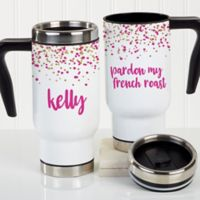 Sparkling Name Personalized Travel Tumbler
